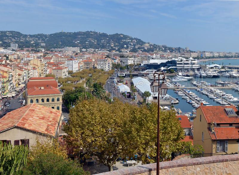 View of Cannes Town & Marina, France stock image