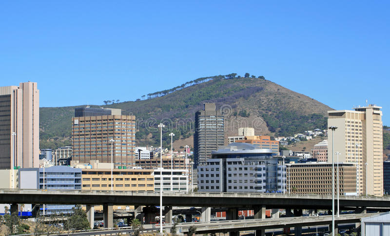 Download View Of Cape Town With Signal Hill In The Background Stock Image - Image: 29358017