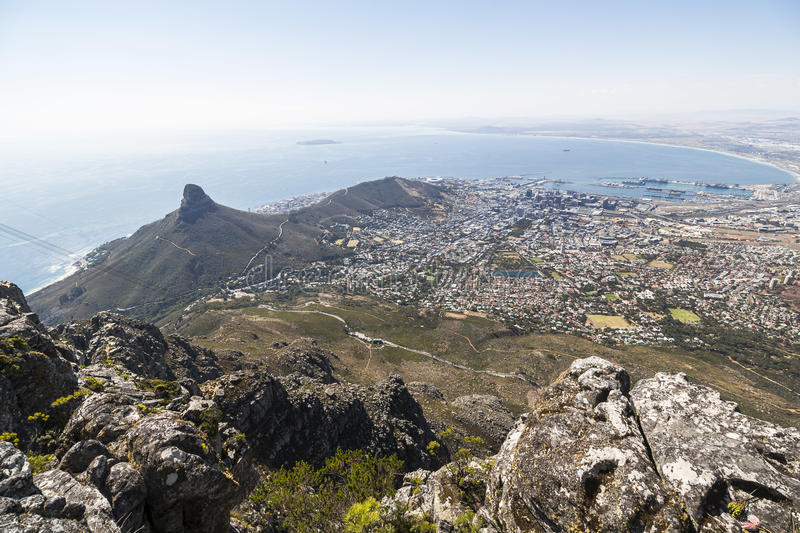 View On Cape Town From Top Of The Table Mountain Stock Image Image - Table top mountain south africa
