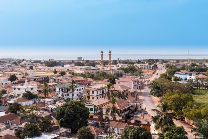 View of the capital Banjul Gambia royalty free stock photo