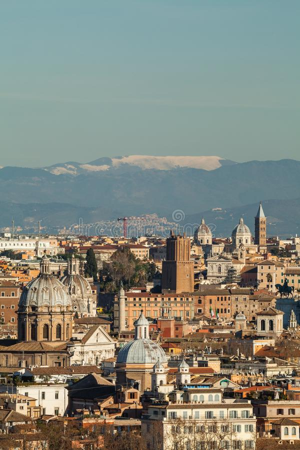 View Of Rome From Janiculum Hill Stock Photo