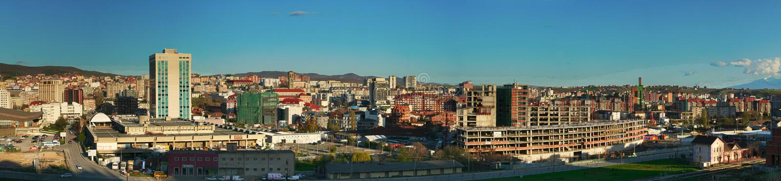 Panorama, view of Pristina royalty free stock images