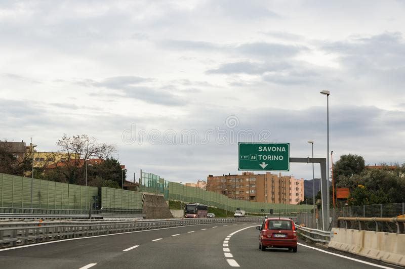Noise barriers of the highway. royalty free stock photo