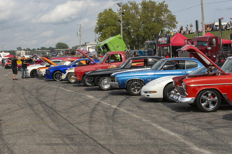 View of car show stock images