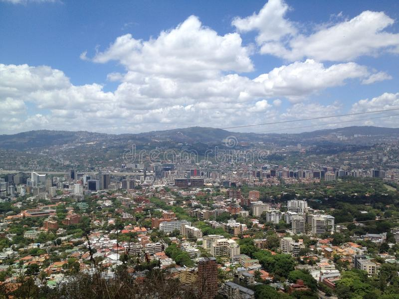 View of Caracas from the Avila National park royalty free stock photo
