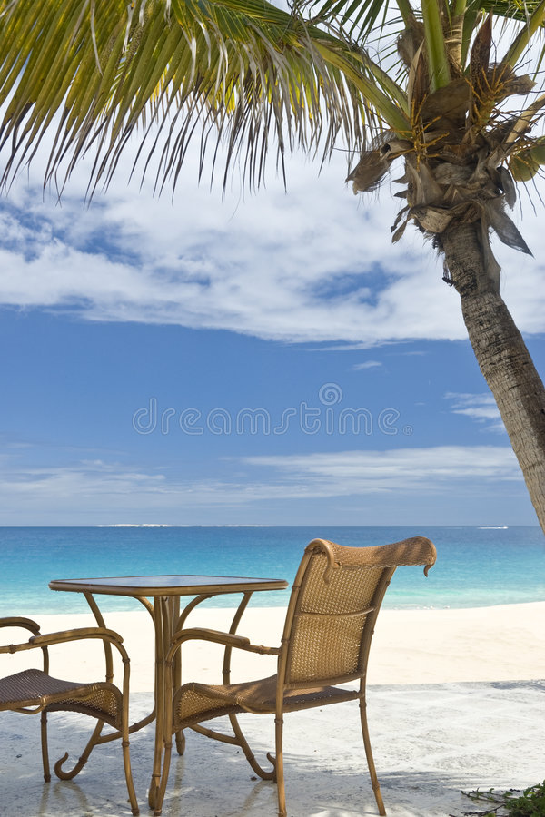 View of the Caribbean Ocean stock image