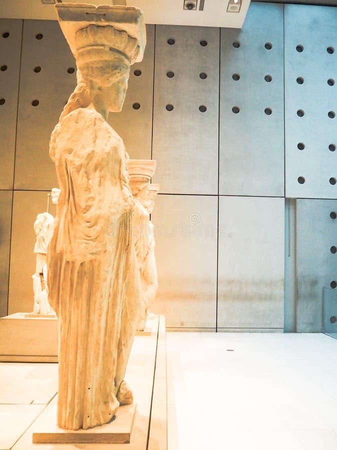 Caryatids in Acropolis royalty free stock images