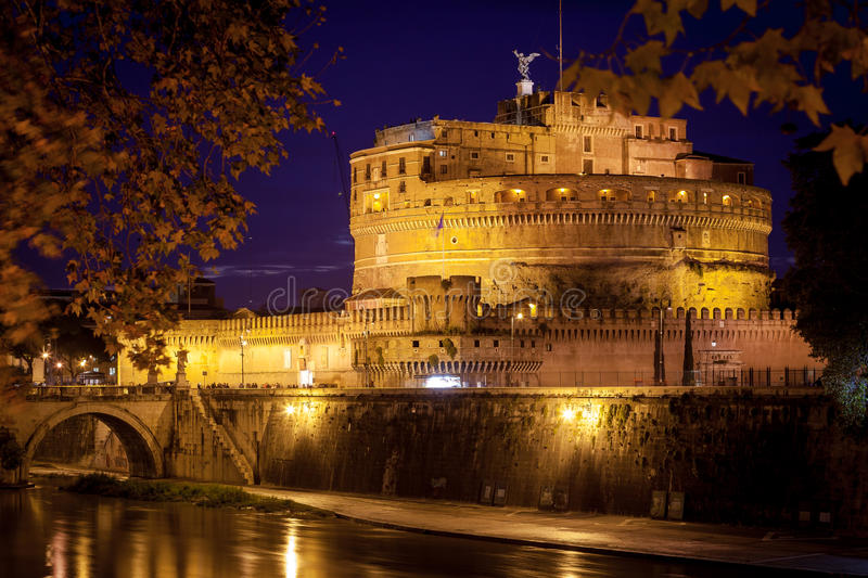 View of Castel Sant'Angelo, Rome. royalty free stock photography