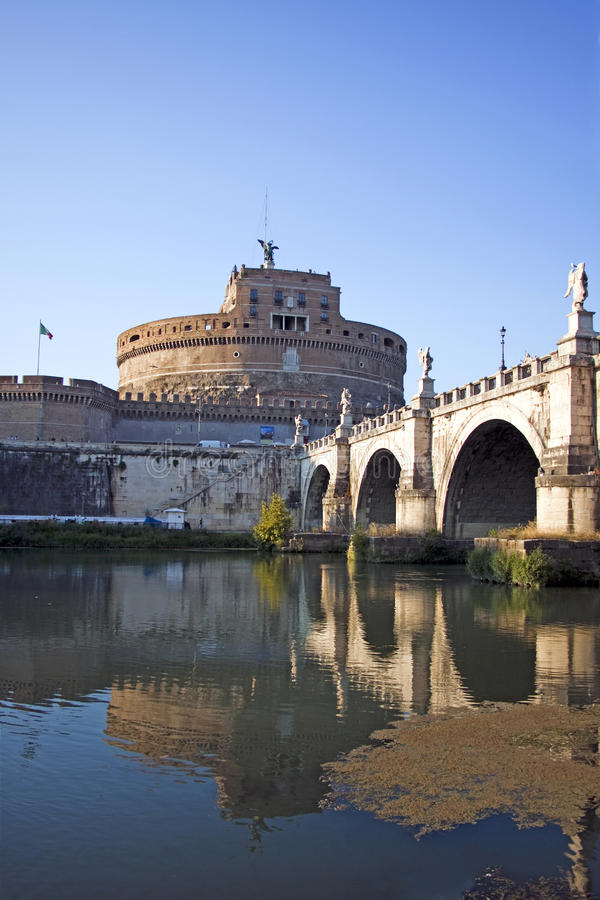 View Of Castel Sant Angelo In Rome Stock Photo