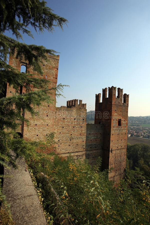 View of castell arquato, a beautiful town. In Italy stock image
