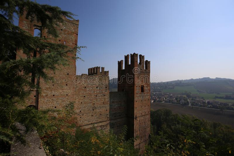 View of castell arquato, a beautiful town. In Italy royalty free stock photos