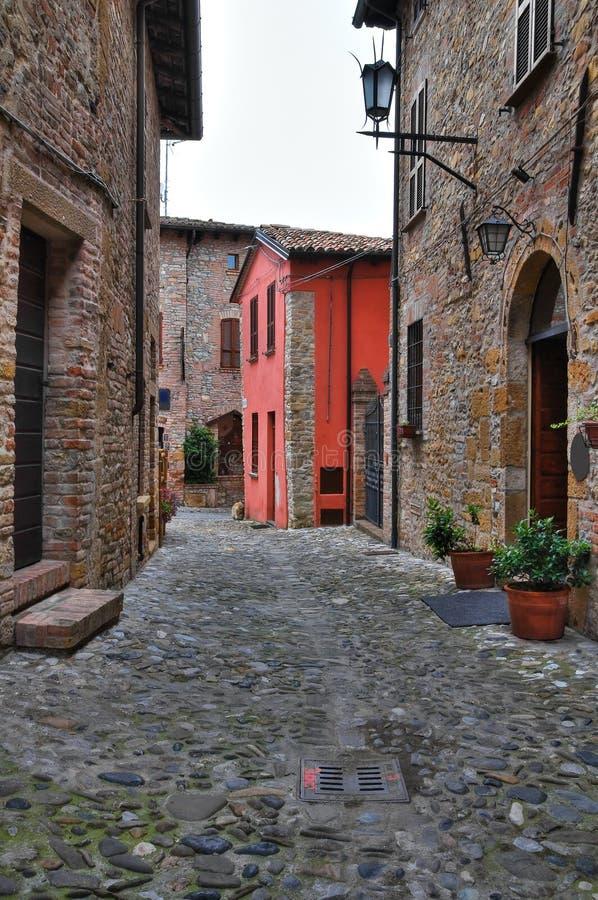 View of Castell'Arquato. Emilia-Romagna. Italy. stock images