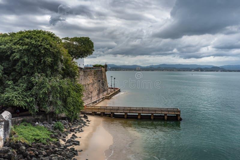View from Castillo San Felipe del Morro royalty free stock photography