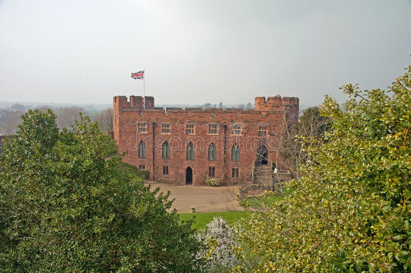 View of the castle royalty free stock photo