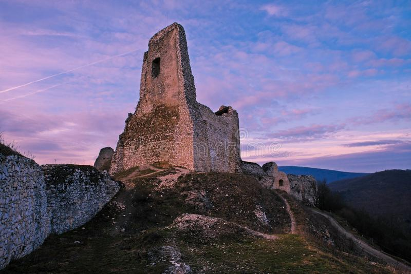 The castle of Cachtice royalty free stock photo