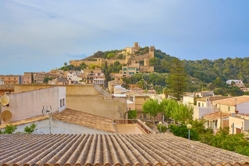 View At The Castle At Capdepera - Castel de Capdepera - Majorca Spain. At A Sunny Spring Day royalty free stock images