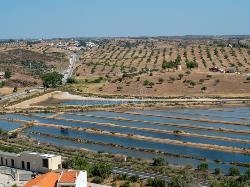 View from Castle Castro Marim. Algarve, Portugal royalty free stock photography