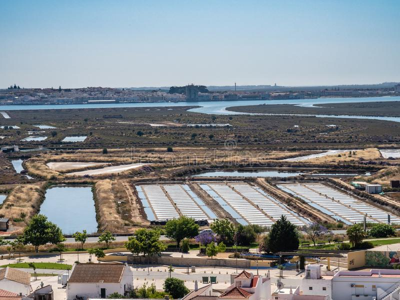 View from Castle Castro Marim. Algarve, Portugal royalty free stock photo