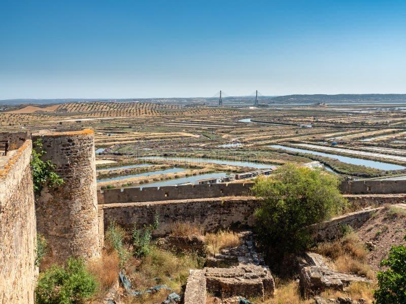 View from Castle Castro Marim. Algarve, Portugal stock photo