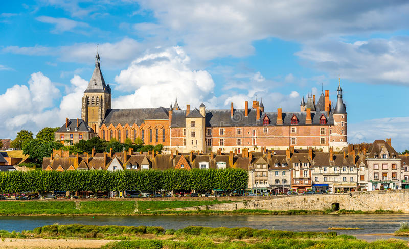 View at the castle Gien royalty free stock photography