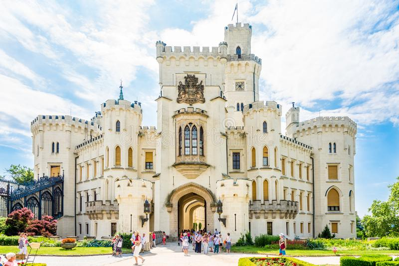 View at the Castle Hluboka in Czech Republic royalty free stock images