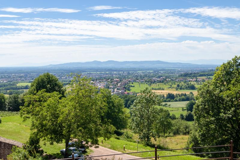 View from Castle Hochburg at Emmendingen. An image of a view from Castle Hochburg at Emmendingen Germany royalty free stock image