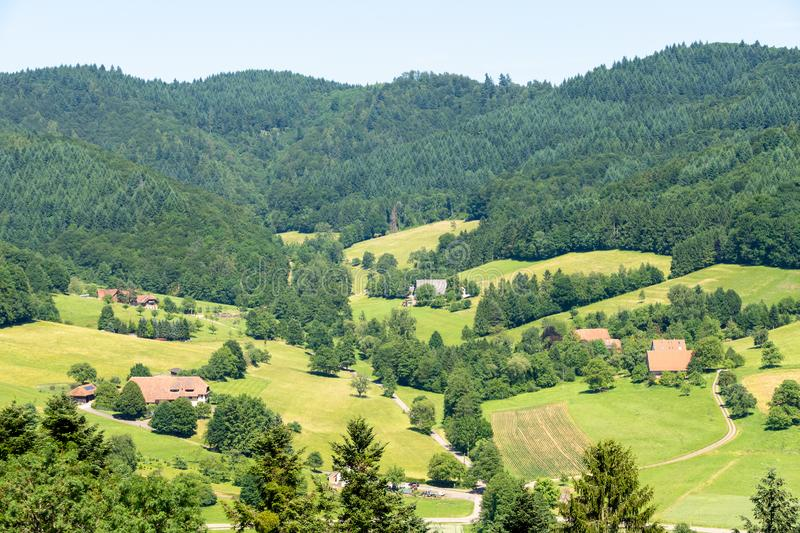 View from Castle Hochburg at Emmendingen. An image of a view from Castle Hochburg at Emmendingen Germany stock photography