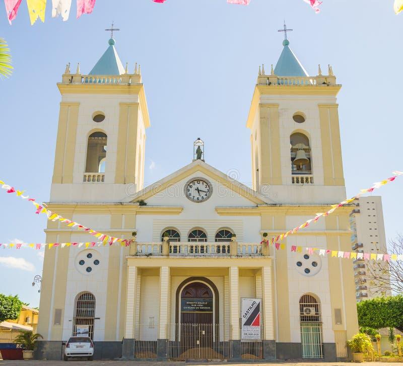 View of cathedral Catedral Metropolitana Sagrado Coracao de Jesus in Porto Velho city stock images
