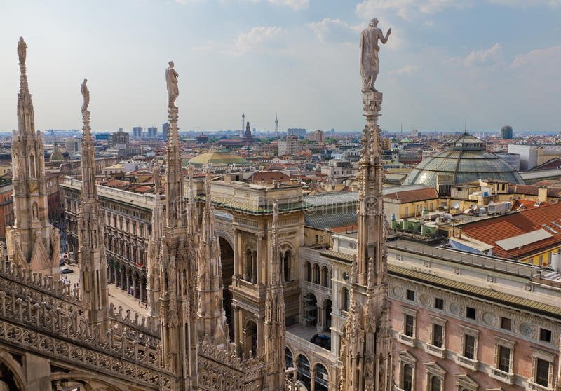 Download View From Cathedral Milan, Italy Stock Image - Image: 22915841