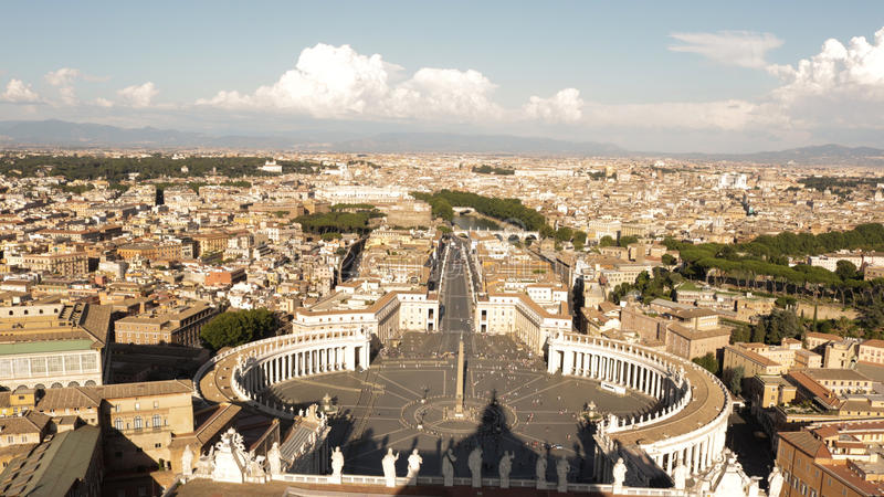 The view from the Cathedral of St. Peter royalty free stock photo