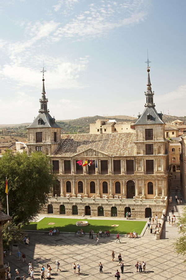 View of the Cathedral of Toledo royalty free stock photo