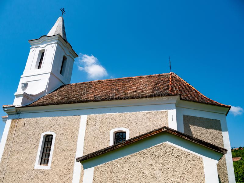View on a catholic church on a sunny day royalty free stock image