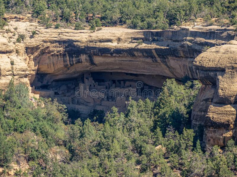 View of cave in Mesa Verde National Park stock photos