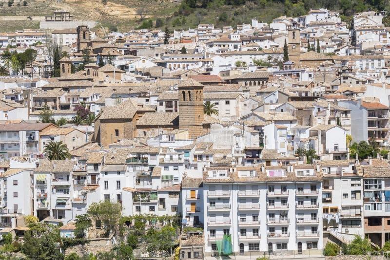 View of Cazorla village, in the Sierra de Cazorla. Segura and the Villas Biosphere Reserve, Jaen, Spain royalty free stock photo