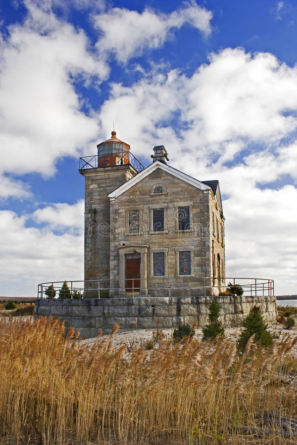 View of Ceder Point Lighthouse royalty free stock photos