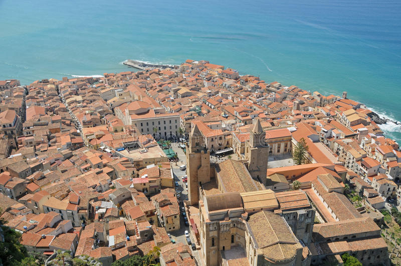 View of Cefalu royalty free stock photo