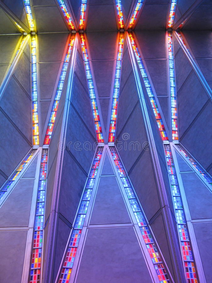 View of ceiling inside Cadet Chapel royalty free stock photos