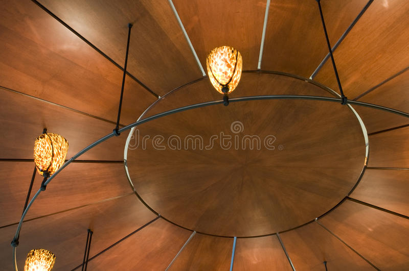 View of Ceiling in Office Building stock photos