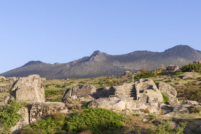 Celtic Castro of Ulaca. Avila, Spain. View of Celtic Castro of Ulaca. Avila, Spain stock photography