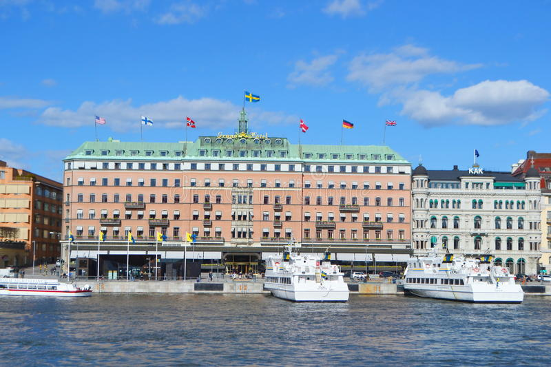 View of cental part of Stockholm. stock image