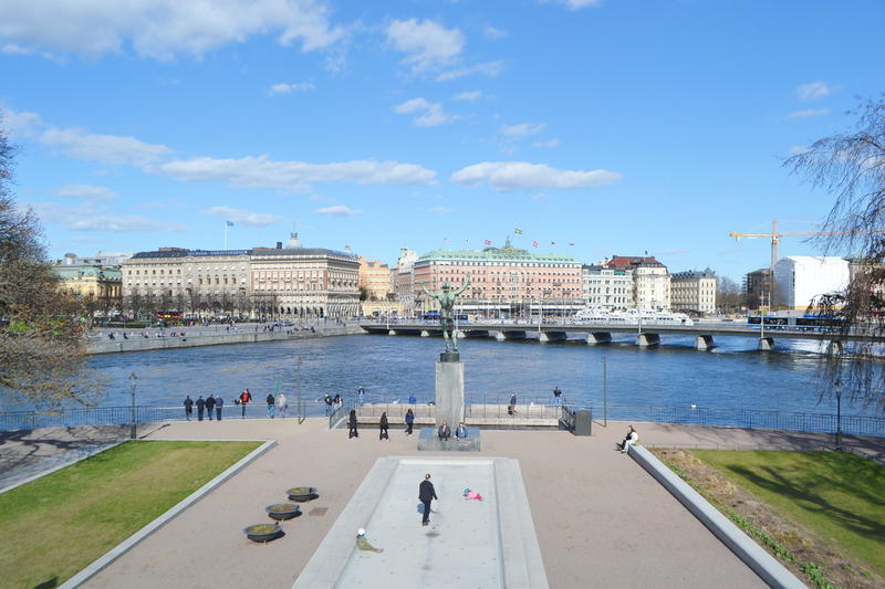 View of cental part of Stockholm. stock photography