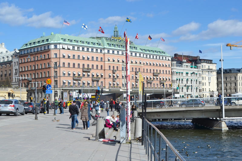 View of cental part of Stockholm. royalty free stock photos