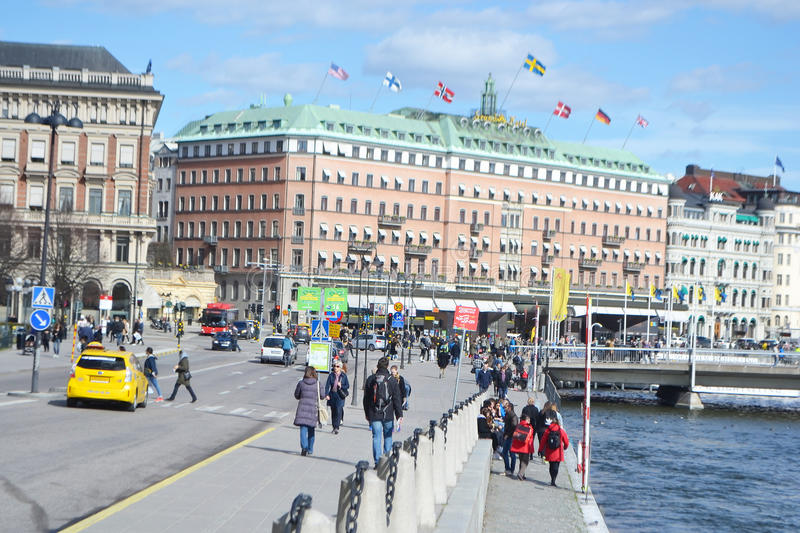 View of cental part of Stockholm. stock images