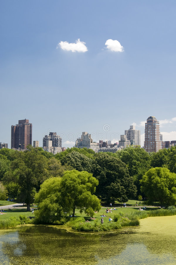 View from Central Park stock photo