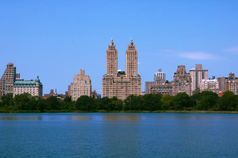 View of Central park at sunny spring day in New York stock photography