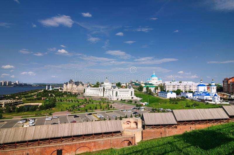 View of the Central part of Kazan, Russia. View of the Central part of Kazan, Tatarstan Republic, Russia stock image