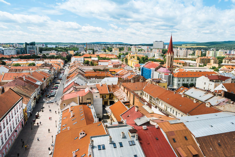 View on central part of Kosice royalty free stock image