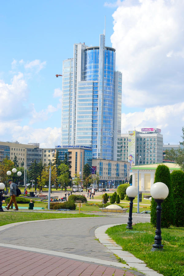 View of central part of Minsk. royalty free stock photo