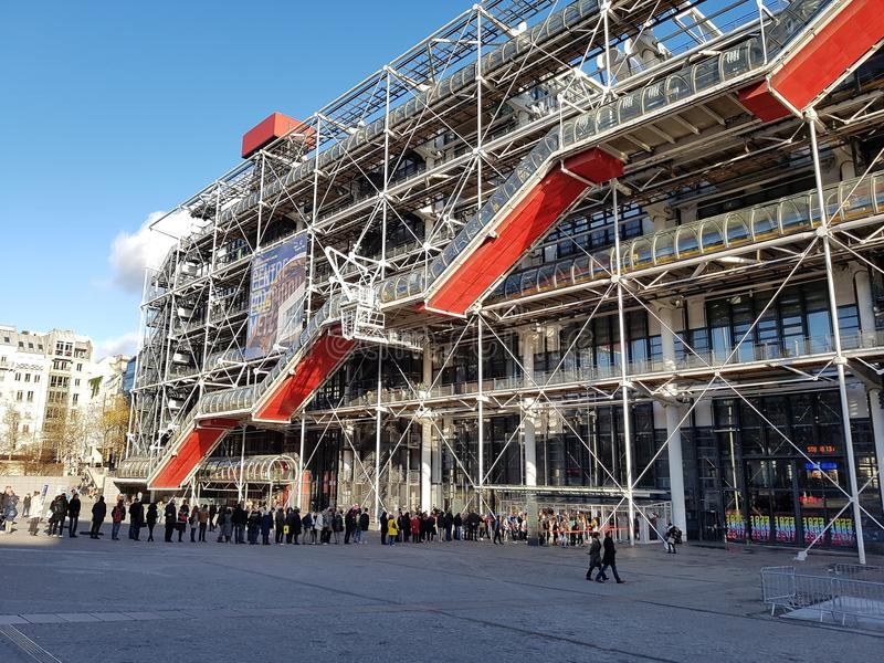 Centre Pompidou, Paris. View on the Centre Pompidou in Paris, France stock photo