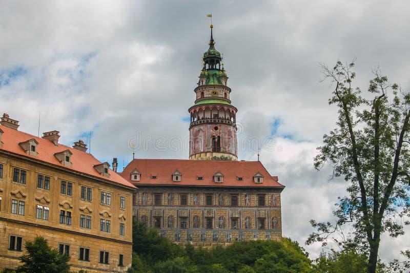 View of Cesky Krumlov Castle in South Bohemia, Czech Republic stock image